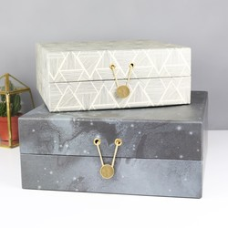 House Doctor Set of 2 Patterned Storage Boxes