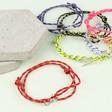 Lisa Angel Personalised Men's Cord Bracelet with Disc Charm