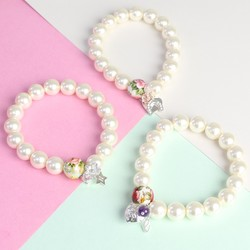 Handmade Personalised Pearl Bracelet with Silver Initial