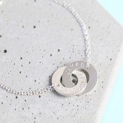 Personalised Sterling Silver Interlocking Bracelet