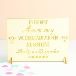 Engraved 'Mother's Day' Wooden Card
