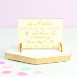 Engraved 'Mother's Day' Wooden Wallet Card