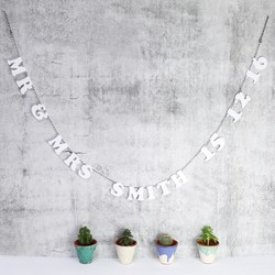 Personalised Acrylic Garland