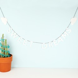 Handmade Acrylic Sweet Dreams Cloud Garland