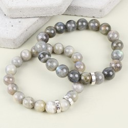 Handmade Personalised Men's Labradorite Bracelet