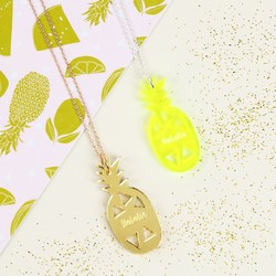 Personalised Acrylic Pineapple Necklace