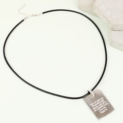 Personalised Sterling Silver Tag Necklace