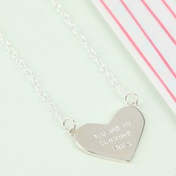 Personalised Sterling Silver Heart Pendant Necklace