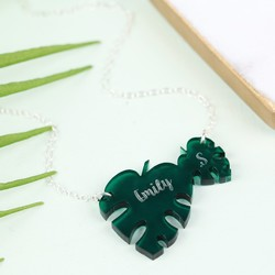 Personalised Acrylic Leaf Necklace