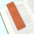 Lisa Angel Handmade Personalised Leather 'Great Adventures' Bookmark