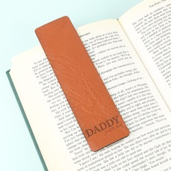 Personalised Leather 'Daddy Since' Bookmark