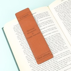 Personalised Leather 'Great Adventures' Father's Day Bookmark