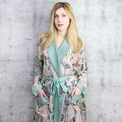 Streets of Paris Map Dressing Gown