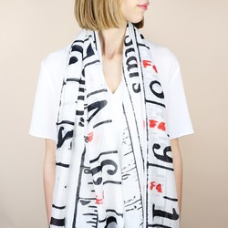 Tape Measure Print Scarf