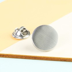 Men's Brushed Stainless Steel Tie Pin
