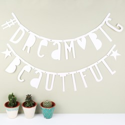 A Little Lovely Company DIY White Letter Banner