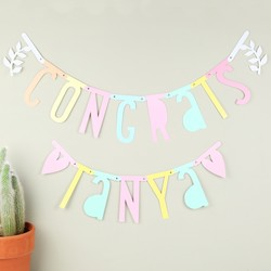 A Little Lovely Company DIY Pastel Letter Banner