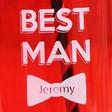 Personalised 'Best Man' Mason Jar - close up of design