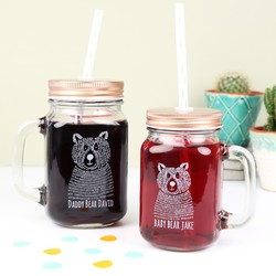 Daddy Bear and Baby Bear Mason Jar Set
