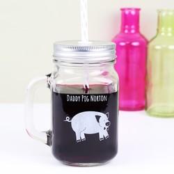 Personalised 'Daddy Pig' Mason Jar