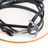 Men's Personalised Leather Bracelet with Stainless Steel Anchor
