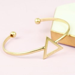 Personalised Open Triangle Bangle