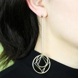 Gold Geometric Drop Earrings