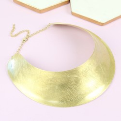 Gold Statement Cuff Necklace
