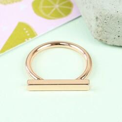 Rose Gold Bar Ring