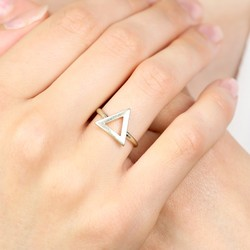Gold Open Triangle Ring