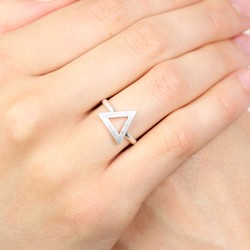 Silver Open Triangle Ring