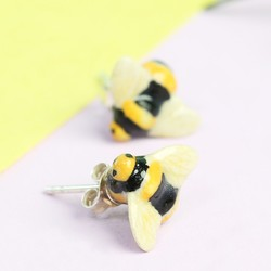 And Mary Porcelain Bee Stud Earrings