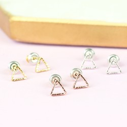 Orelia Set of 3 Open Triangle Stud Earrings