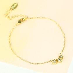 Orelia Triple Crystal Stars Bracelet