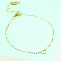 Orelia Tiny Open Heart Bracelet