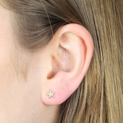 Orelia Tiny Gold Starfish Stud Earrings