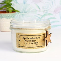 Vintage Star Lavender Scented Jar Candle