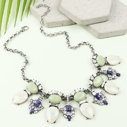 Ocean Statement Gem Necklace
