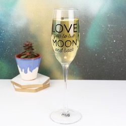 'To The Moon and Back' Champagne Glass
