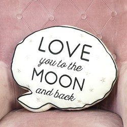'Love You To The Moon' Speech Bubble Quote Cushion