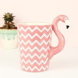 Chevron Flamingo Mug