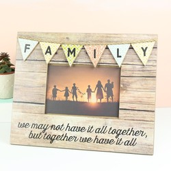 'Family' Bunting Photo Frame