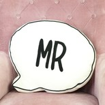 'Mr' Speech Bubble Cushion