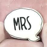 'Mrs' Speech Bubble Cushion