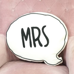 'Mrs' Speech Bubble Quote Cushion
