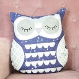 Sleepy Starry Nights Owl Cushion