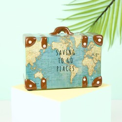 Travel Suitcase Money Box