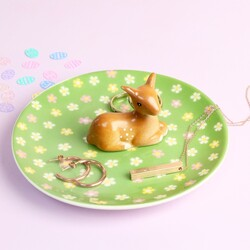 Ceramic Bambi Jewellery Dish