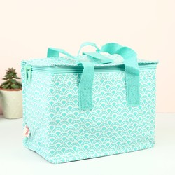 Geometric Turquoise Lunch Bag