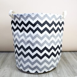 Monochrome Chevron Laundry Basket
